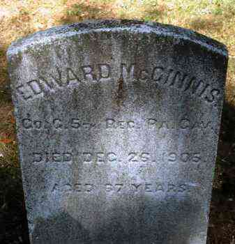 MCGINNIS (CW), EDWARD - Bucks County, Pennsylvania | EDWARD MCGINNIS (CW) - Pennsylvania Gravestone Photos