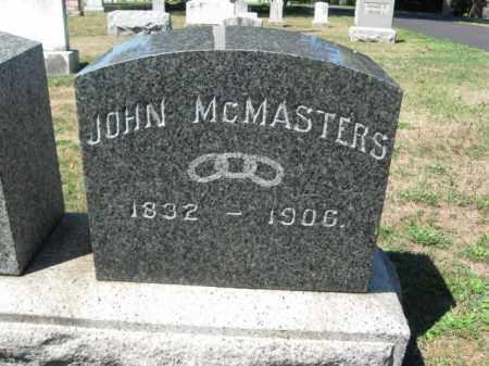 MCMASTERS, JOHN - Bucks County, Pennsylvania | JOHN MCMASTERS - Pennsylvania Gravestone Photos