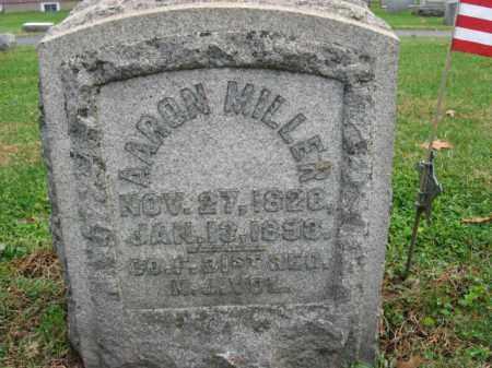 MILLER, PVT.AARON - Bucks County, Pennsylvania | PVT.AARON MILLER - Pennsylvania Gravestone Photos