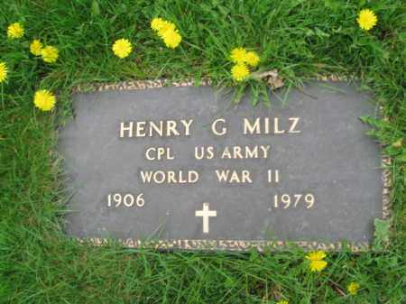 MILZ (WW II), HENRY G. - Bucks County, Pennsylvania | HENRY G. MILZ (WW II) - Pennsylvania Gravestone Photos