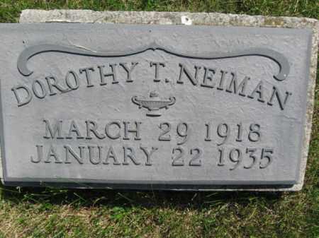 NEIMAN, DOROTHY T. - Bucks County, Pennsylvania | DOROTHY T. NEIMAN - Pennsylvania Gravestone Photos