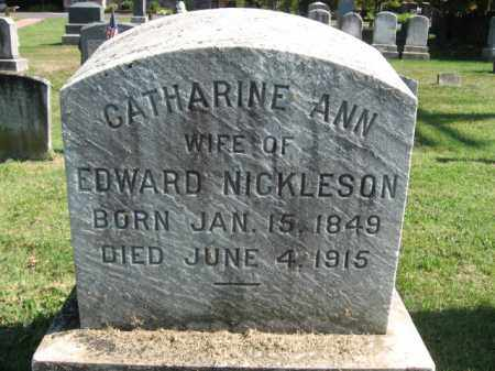 NICKLESON, CATHARINE ANN - Bucks County, Pennsylvania | CATHARINE ANN NICKLESON - Pennsylvania Gravestone Photos