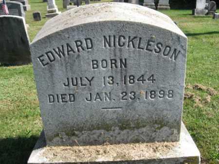 NICKLESON, EDWARD - Bucks County, Pennsylvania | EDWARD NICKLESON - Pennsylvania Gravestone Photos
