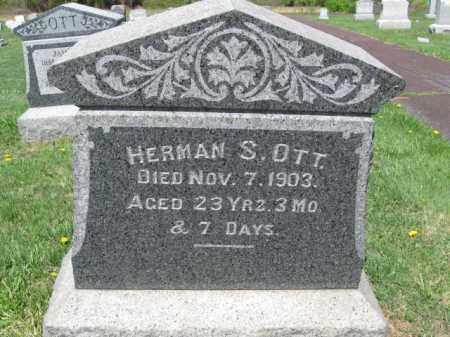 OTT, HERMAN S. - Bucks County, Pennsylvania | HERMAN S. OTT - Pennsylvania Gravestone Photos