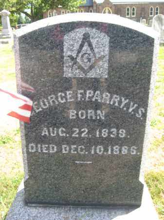 PARRY (CW), GEORGE F. - Bucks County, Pennsylvania | GEORGE F. PARRY (CW) - Pennsylvania Gravestone Photos
