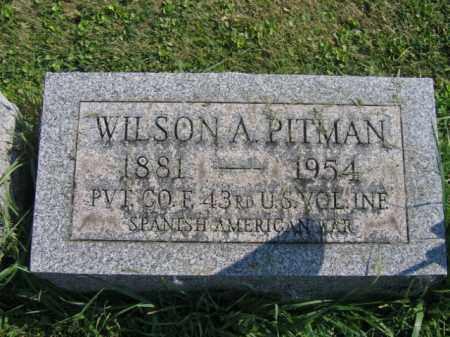 PITMAN, WILSON A. - Bucks County, Pennsylvania   WILSON A. PITMAN - Pennsylvania Gravestone Photos