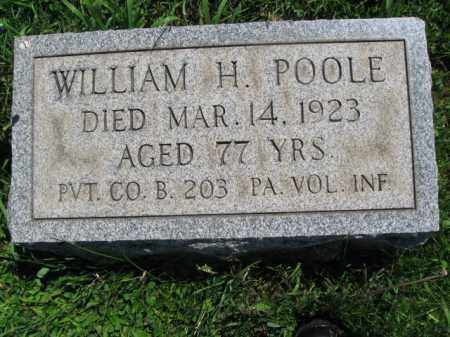 POOLE (CW), WILLIAM H. - Bucks County, Pennsylvania   WILLIAM H. POOLE (CW) - Pennsylvania Gravestone Photos