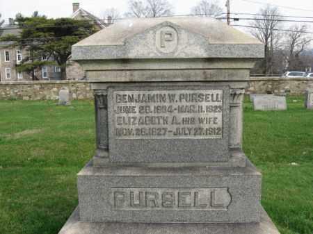 PURSELL, BENJAMIN W. - Bucks County, Pennsylvania | BENJAMIN W. PURSELL - Pennsylvania Gravestone Photos