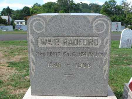 RADFROD (CW), WILLIAM P. - Bucks County, Pennsylvania   WILLIAM P. RADFROD (CW) - Pennsylvania Gravestone Photos