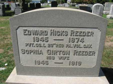 REEDER (CW), EDWARD HICKS - Bucks County, Pennsylvania | EDWARD HICKS REEDER (CW) - Pennsylvania Gravestone Photos