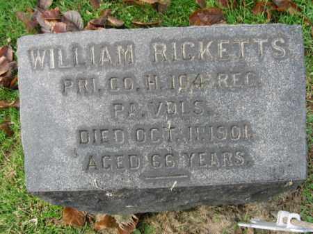 RICKETTS, PVT. WILLIAM - Bucks County, Pennsylvania | PVT. WILLIAM RICKETTS - Pennsylvania Gravestone Photos