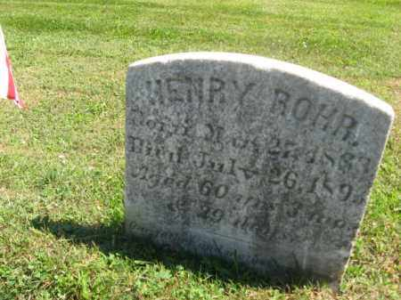 ROHR (CW), HENRY - Bucks County, Pennsylvania | HENRY ROHR (CW) - Pennsylvania Gravestone Photos