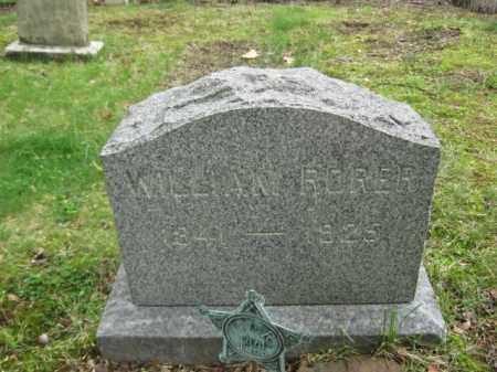 RORER, WILLIAM - Bucks County, Pennsylvania | WILLIAM RORER - Pennsylvania Gravestone Photos