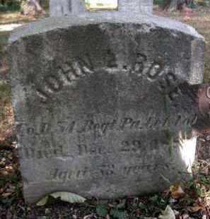 ROSE (CW), JOHN L. - Bucks County, Pennsylvania | JOHN L. ROSE (CW) - Pennsylvania Gravestone Photos
