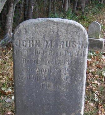 RUSH (CW), JOHN M. - Bucks County, Pennsylvania   JOHN M. RUSH (CW) - Pennsylvania Gravestone Photos