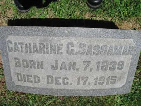 SASSAMAN, CATHARINE G. - Bucks County, Pennsylvania   CATHARINE G. SASSAMAN - Pennsylvania Gravestone Photos