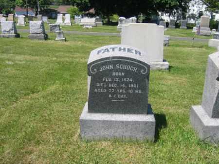 SCHOCH, JOHN - Bucks County, Pennsylvania | JOHN SCHOCH - Pennsylvania Gravestone Photos