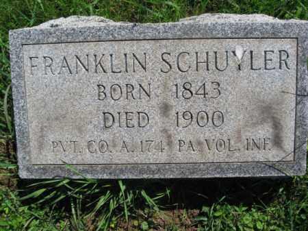 SCHUYLER (CW), FRANKLIN S. - Bucks County, Pennsylvania | FRANKLIN S. SCHUYLER (CW) - Pennsylvania Gravestone Photos