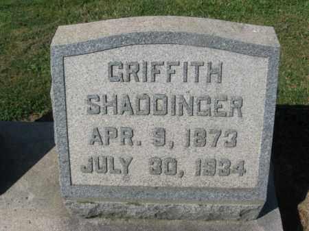 SHADDINGER, GRIFFITH - Bucks County, Pennsylvania | GRIFFITH SHADDINGER - Pennsylvania Gravestone Photos