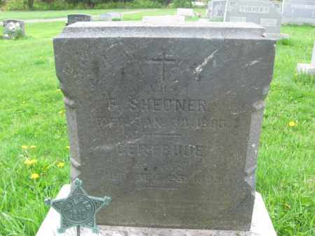 SHEDNER, F. - Bucks County, Pennsylvania | F. SHEDNER - Pennsylvania Gravestone Photos