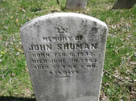 SHUMAN, JOHN - Bucks County, Pennsylvania   JOHN SHUMAN - Pennsylvania Gravestone Photos