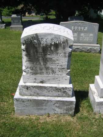 SHUP, HENRY - Bucks County, Pennsylvania | HENRY SHUP - Pennsylvania Gravestone Photos
