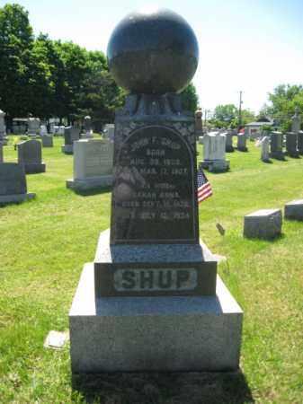 SHUP, JOHN F. - Bucks County, Pennsylvania | JOHN F. SHUP - Pennsylvania Gravestone Photos