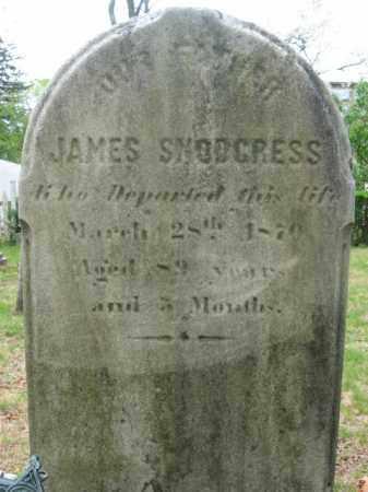 SNODGRESS, JAMES - Bucks County, Pennsylvania   JAMES SNODGRESS - Pennsylvania Gravestone Photos