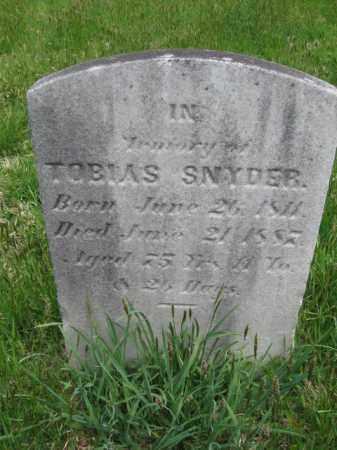 SNYDER, TOBIAS - Bucks County, Pennsylvania   TOBIAS SNYDER - Pennsylvania Gravestone Photos