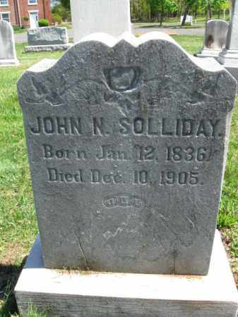 SOLLIDAY, JOHN N. - Bucks County, Pennsylvania | JOHN N. SOLLIDAY - Pennsylvania Gravestone Photos