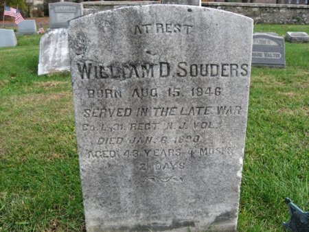 SOUDERS (SOWDERS)  (CW), WILLIAM D. - Bucks County, Pennsylvania | WILLIAM D. SOUDERS (SOWDERS)  (CW) - Pennsylvania Gravestone Photos