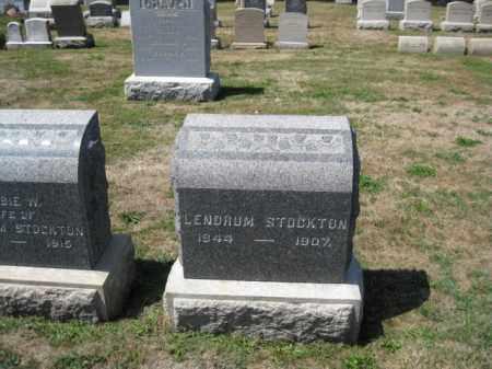 STOCKTON, LENDRUM - Bucks County, Pennsylvania   LENDRUM STOCKTON - Pennsylvania Gravestone Photos