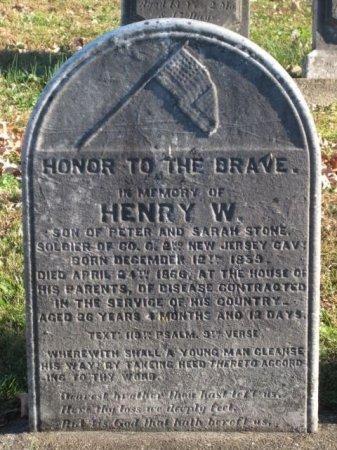 STONE (CW), HENRY W. - Bucks County, Pennsylvania | HENRY W. STONE (CW) - Pennsylvania Gravestone Photos