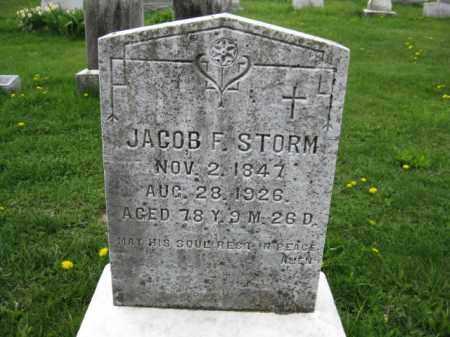 STORM, JACOB F. - Bucks County, Pennsylvania | JACOB F. STORM - Pennsylvania Gravestone Photos