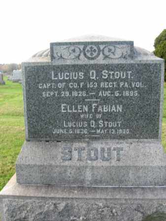 STOUT, ELLEN - Bucks County, Pennsylvania | ELLEN STOUT - Pennsylvania Gravestone Photos