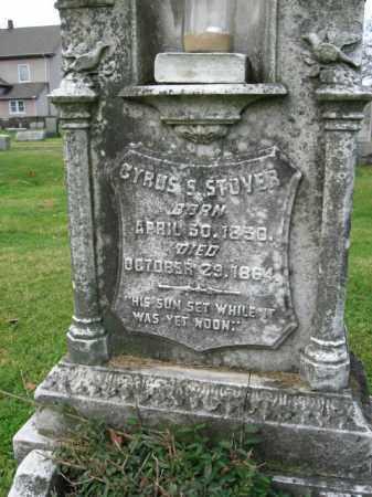 STOVER  (CW), CYRUS S. - Bucks County, Pennsylvania | CYRUS S. STOVER  (CW) - Pennsylvania Gravestone Photos