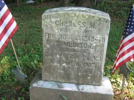 TOMLINSON (CW), CHARLES M. - Bucks County, Pennsylvania   CHARLES M. TOMLINSON (CW) - Pennsylvania Gravestone Photos