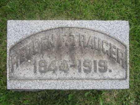 TRAUGER, REUBEN F. - Bucks County, Pennsylvania | REUBEN F. TRAUGER - Pennsylvania Gravestone Photos