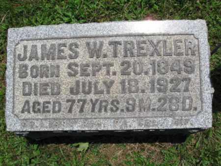 TREXLER (CW), JAMES W. - Bucks County, Pennsylvania   JAMES W. TREXLER (CW) - Pennsylvania Gravestone Photos