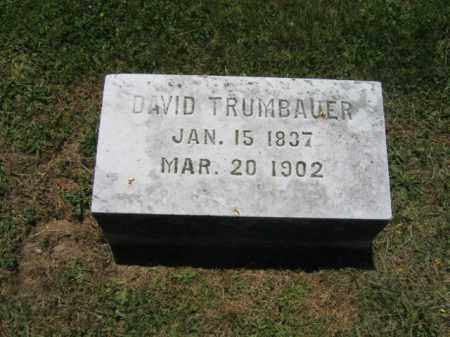 TRUMBAUER, DAVID - Bucks County, Pennsylvania   DAVID TRUMBAUER - Pennsylvania Gravestone Photos