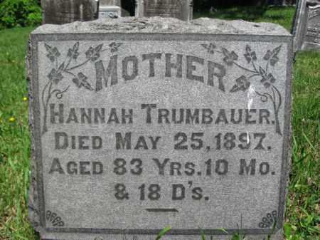 TRUMBAUER, HANNAH - Bucks County, Pennsylvania | HANNAH TRUMBAUER - Pennsylvania Gravestone Photos
