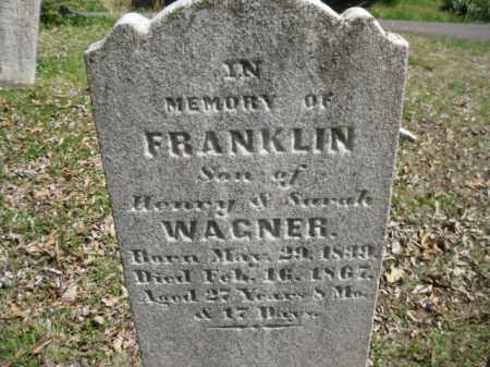 WAGNER, FRANKLIN - Bucks County, Pennsylvania   FRANKLIN WAGNER - Pennsylvania Gravestone Photos