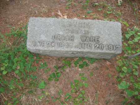WARE, LOVINA - Bucks County, Pennsylvania | LOVINA WARE - Pennsylvania Gravestone Photos