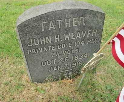 WEAVER  (CW), JOHN H. - Bucks County, Pennsylvania   JOHN H. WEAVER  (CW) - Pennsylvania Gravestone Photos