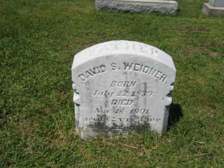 WEIDNER, DAVID S. - Bucks County, Pennsylvania   DAVID S. WEIDNER - Pennsylvania Gravestone Photos