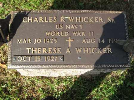 WHICKER,SR. (WW II), CHARLES R. - Bucks County, Pennsylvania   CHARLES R. WHICKER,SR. (WW II) - Pennsylvania Gravestone Photos