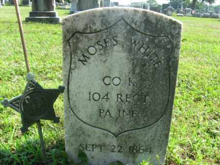 WHITE, MOSES - Bucks County, Pennsylvania | MOSES WHITE - Pennsylvania Gravestone Photos