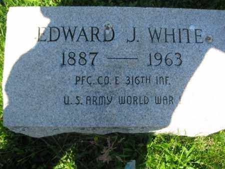 WHITE (WW I), EDWARD J. - Bucks County, Pennsylvania   EDWARD J. WHITE (WW I) - Pennsylvania Gravestone Photos