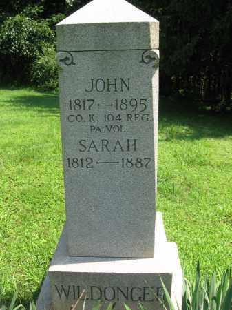 WILDONGER, SARAH - Bucks County, Pennsylvania   SARAH WILDONGER - Pennsylvania Gravestone Photos