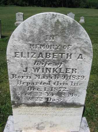 WINKLER, ELIZABETH A. - Bucks County, Pennsylvania | ELIZABETH A. WINKLER - Pennsylvania Gravestone Photos